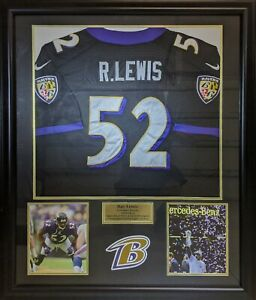 Details about Ray Lewis Baltimore Ravens Framed Jersey (Pick up Only)