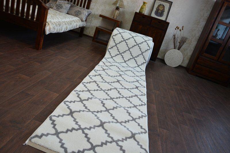 Moderne Épais Coureur de Hall Brouillon Brouillon Brouillon Treillage Blanc Largeur 80-120cm Extra | Offre Spéciale  c09b9d