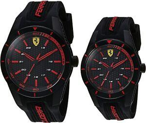 Ferrari Men S Women S Red Rev Black Silicone Band 38mm 44mm Gift Set Watches 885997245067 Ebay