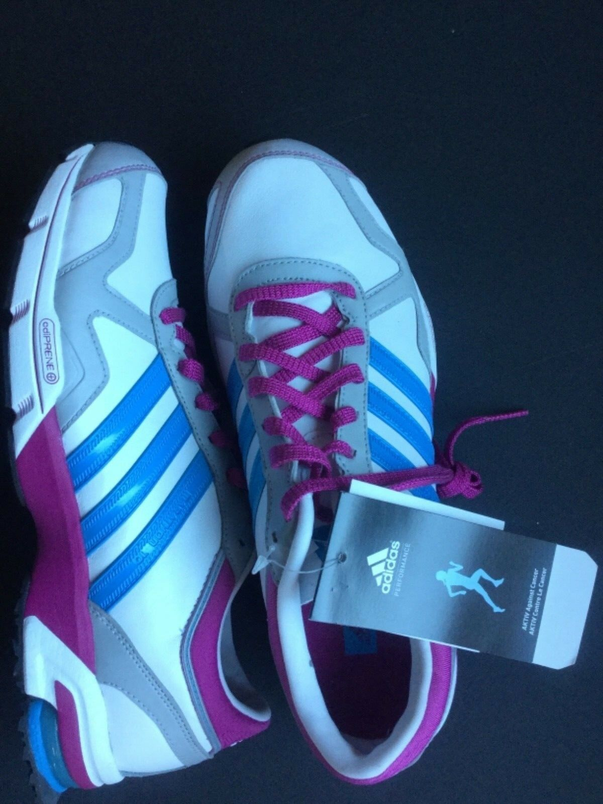 Brand NEW Adidas Marathon 10 Sneakers, Running Shoes, size 9, White and Purple Wild casual shoes