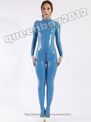 100/% Latex Rubber Gummi 0.45mm Bodysuit Zentai Catsuit Suit Unitard Metallic