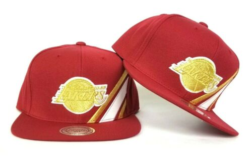 Gold Los Angeles Lakers snapback hat Mitchell /& Ness Light Burgundy