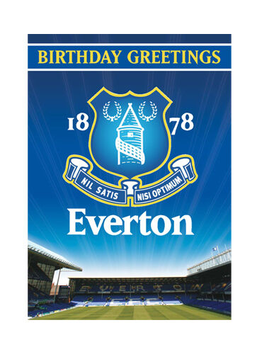 Official Football Club Birthday Cards Greeting And Candle Everton Musical W18mcaev