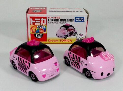 TAKARA TOMY Dream Tomica Sanrio Hello Kitty Stripe Ribbon Pink *FREE SHIP USA