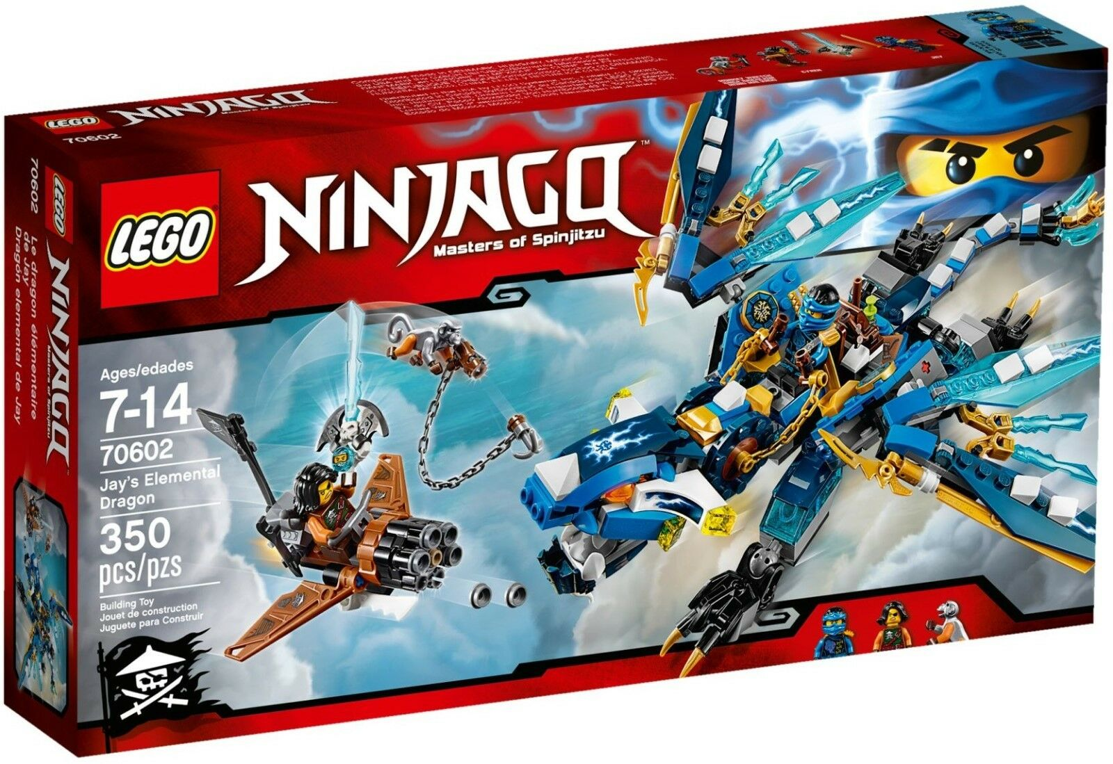 Lego Ninjago 70602 Jay's Elemental Dragon Brand New In Sealed SAME DAY DESPATCHE