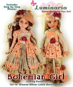 """PDF Dress Pattern Fits 13"""" Dianna Effner Little Darling My Meadow Avery Iple KID"""