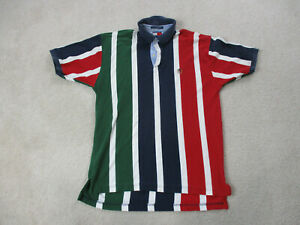 VINTAGE-Tommy-Hilfiger-Polo-Shirt-Adult-Large-Red-Green-Crest-Rugby-90s-A66