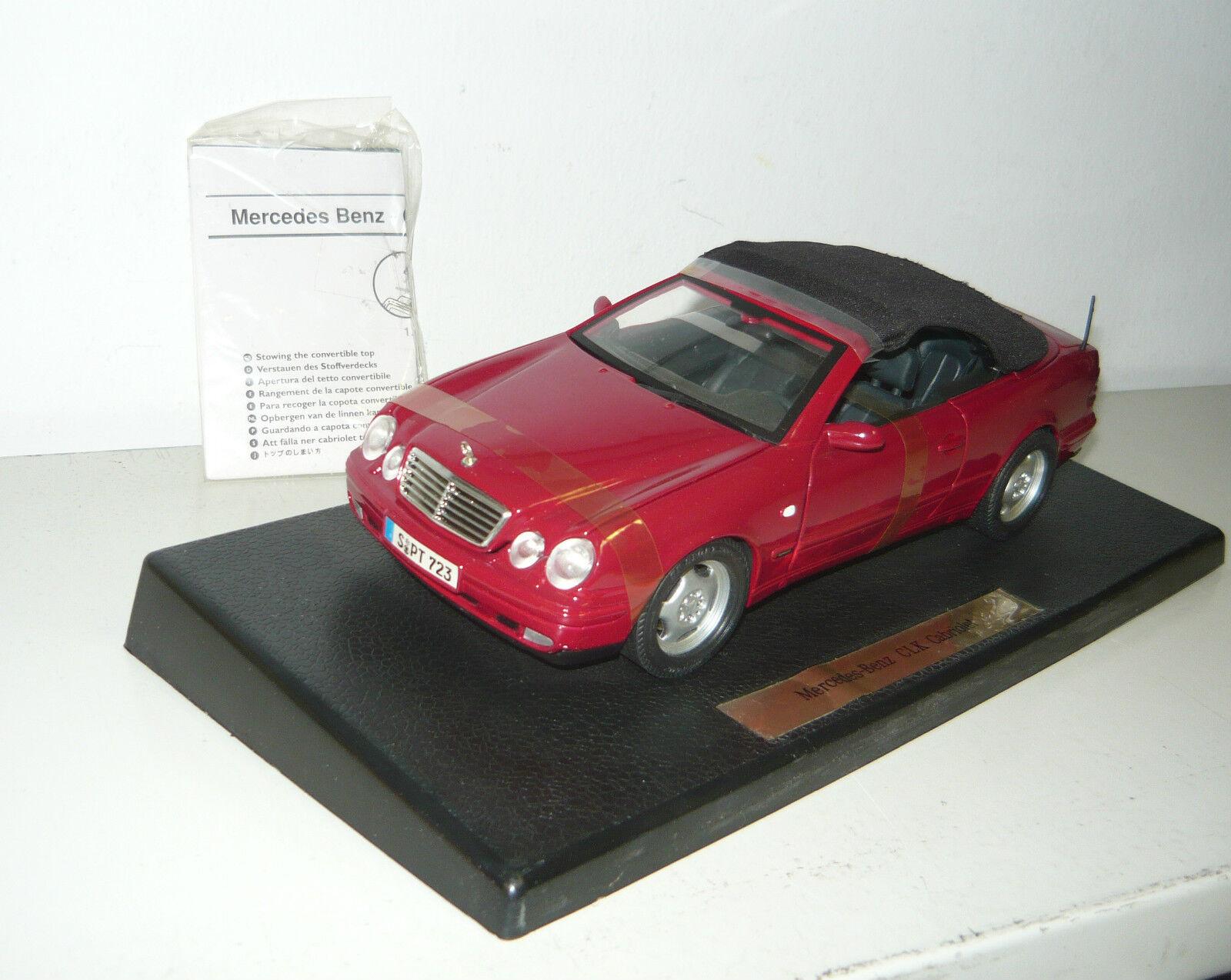 Anson 30338, MERCEDES-BENZ CLK Cabriolet, rosso, bewegl. stoffd., 1 neu&ovp 18, neu&ovp 1 7653ef