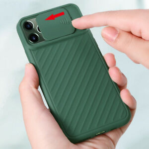 For-iPhone-11-Pro-Max-XS-XR-X-8-7-6-Plus-Camera-Protection-Slide-Cover-Soft-Case