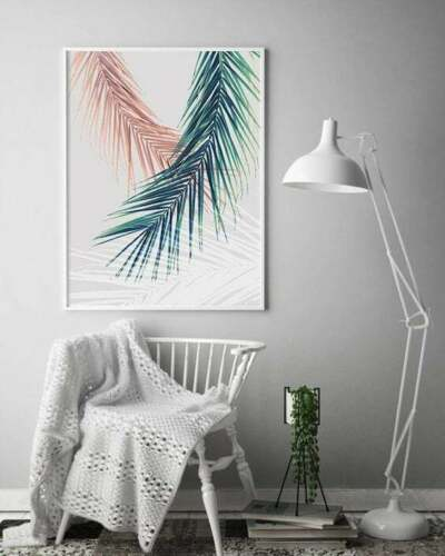 Blush Pink Watercolors Palm Trees Tropical Wall Art Prints Look Great Framed