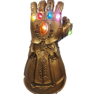 Thanos Gloves Cosplay Avengers 3 Endgame Infinity War Gauntlet LED Kids Gift us