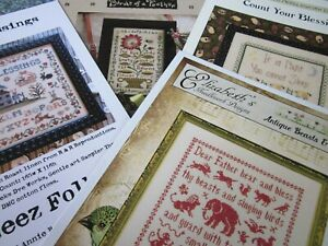 CS249-SALE-2-assorted-Samplers-cross-stitch-charts-YOUR-CHOICE-NEW
