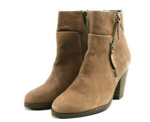 Vince-Camuto-Women-039-s-120-Heeled-Ankle-Booties-Boots-Size-9-Leather-Brown