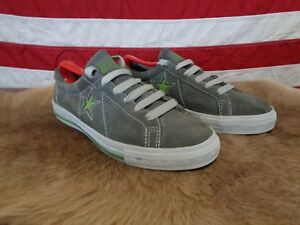 3c0adf472118a Details about VTG 90s CONVERSE ONE STAR SUEDE GRAY SNEAKERS SHOES MENS 7  RARE GREEN SINGLE