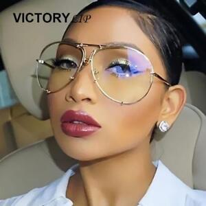 Image is loading VictoryLip-Oversized-Aviator-Sunglasses-Men-Women -Brand-Designer- 9d23da026