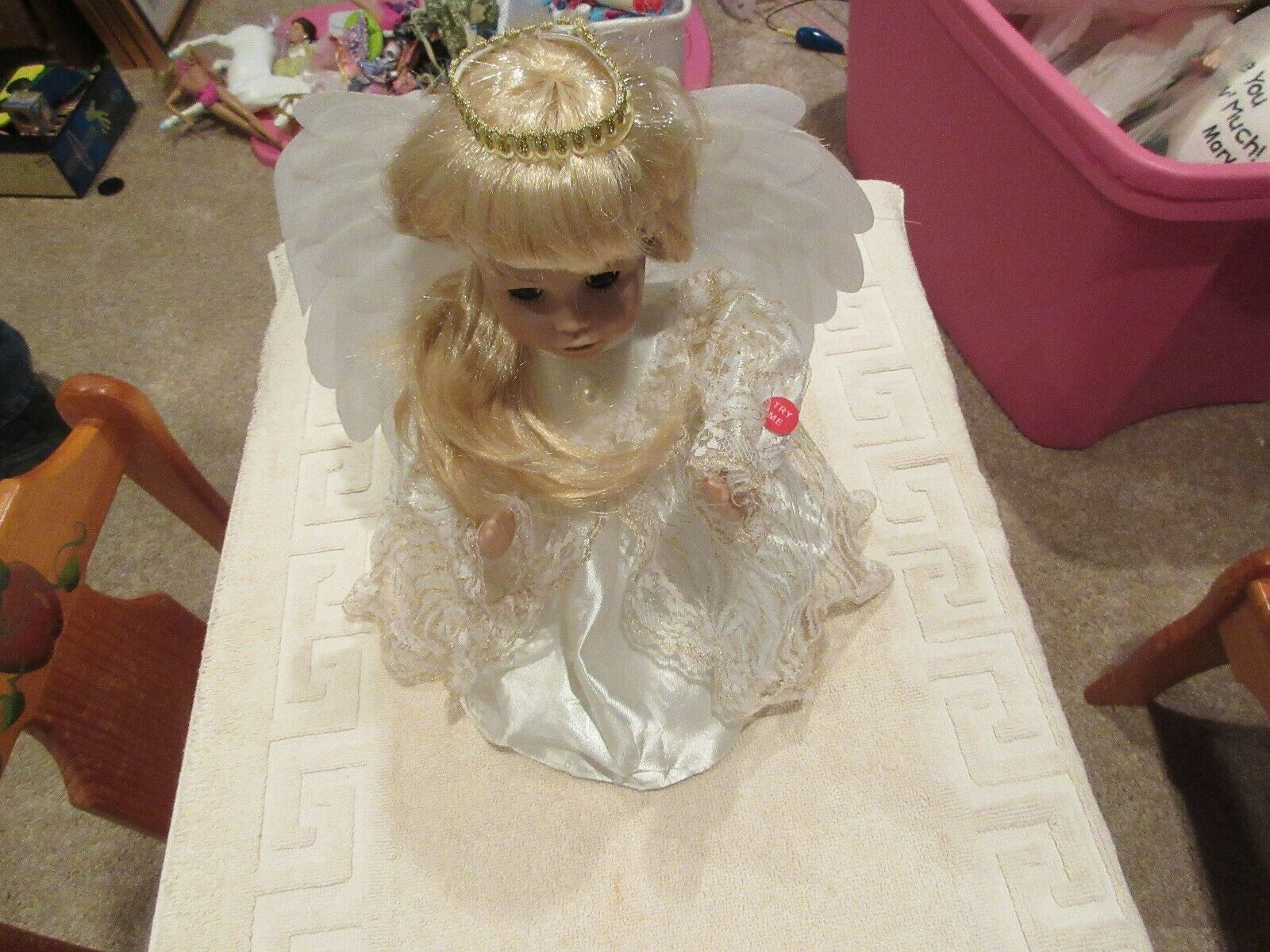 Doll , Fairy Princess , Battery Operated , White Dress