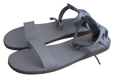 Para mujeres Damas Chicas natural de piel de becerro Zapatillas Mulas Sandalias Ojotas Playa
