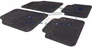 Front-amp-Rear-BLACK-RUBBER-Car-Mats-Ford-Focus