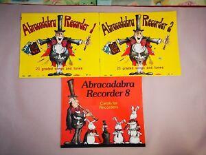 3 Paquet De Livres Abracadabra Recorder Books 1 & 2 Chants Pour Enregistreurs Livre 8-afficher Le Titre D'origine Calcul Minutieux Et BudgéTisation Stricte