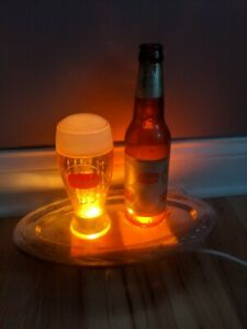 Vintage-Schaefer-Beer-Bar-Bubbler-Sign-Motion-Draft-Mug-Rare