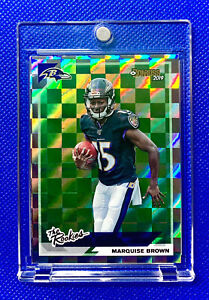 MARQUISE BROWN 2019 PANINI DONRUSS TR-12 CHECKERBOARD REFRACTOR ROOKIE RC RAVENS