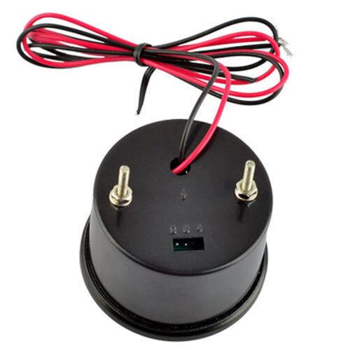 """2/"""" 52mm Black Shell Car Truck Digital Red LED Volt Voltage LED Gauge Kit"""