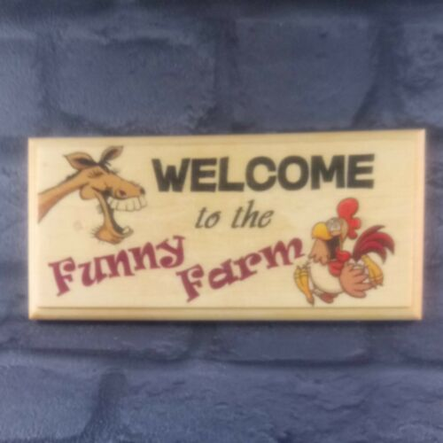 Signe-Maison Famille Crazy 265 Bienvenue à la Ferme Drôle-Cadeau Plaque