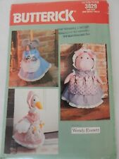 Doorstop Broomcover Mouse Pig Goose Butterick 3829 Sewing Pattern Uncut Craft