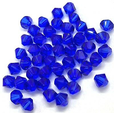 24pc Swarovski Crystal White Opal Sky Blue 4mm Bicone 5328 Beads; LAST ONE!