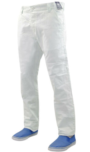 Mens New Kushiro Slim Fit Twill Chino Cotton Straight Leg Trousers Pant