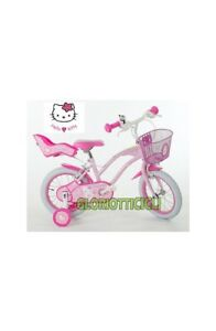 Dettagli Su Hello Kitty Bici Bimba 14 Cruise Flowers White Tire