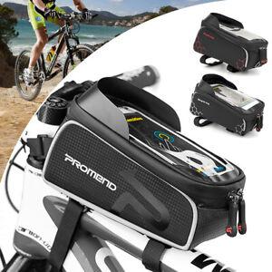 Waterproof MTB Mountain Bike Frame Front Bag Pannier Bicycle Phone Mobile Holder