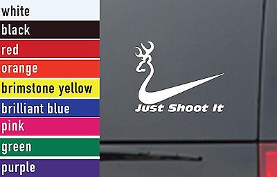 Deer Just Shoot It Hunting Vinyl Sticker Decal Car-Truck Laptop-Netbook 1831