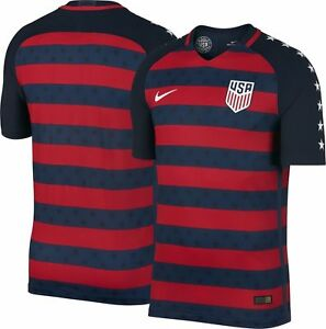 89ab10d92c4 NEW 100% AUTHENTIC NIKE 2017 18 US Soccer Vapor Gold Cup USA Jersey ...