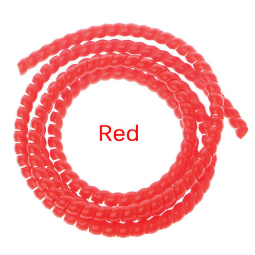 """1m Spiral Wire Organizer Wrap Tube Flame retardant Cable Casing Sleeve/"""" H/&P"""