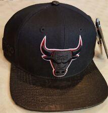 02f5cd5c94c Chicago Bulls Pro Standard NBA Custom Strapback Cap Hat Black Brand New!