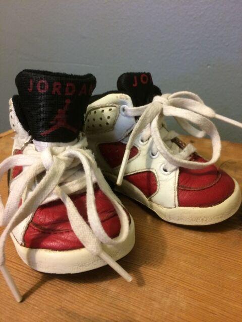 cd052b2f8d30 Vtg 90s Nike Air Jordan 6 Baby Kids Toddler Infant Shoes Sneakers Boys Size  3