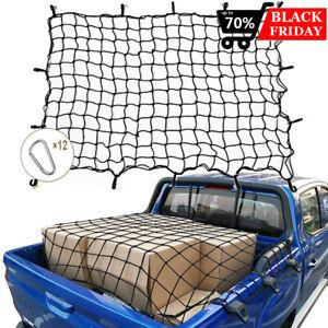 "Truck SUV Car 48/"" x 60/""Elastic Bungee Cargo Net Metal Hooks Tie Down Pick Up Bed"