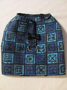 Black-and-Blue-Dog-Shirt-Harness-Puppy-Teacup-Pet-Clothes-XXXS-Large