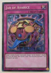 YuGiOh-JAR-OF-AVARICE-MP16-EN033-MINT-SECRET-RARE-1st-EDITION-CARD
