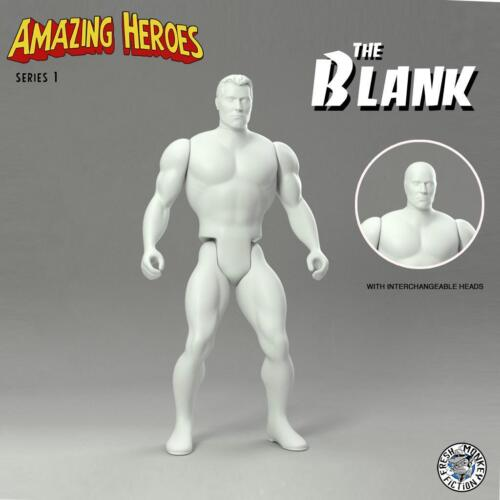THE BLANK ACTION FIGURE VINYL ART TOY AMAZING HEROES SERIES FRESH MONKEY FICTION