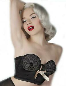 Playful-Promises-Bettie-Page-Overwire-Longline-Bra-BP034BP-Black-Peach