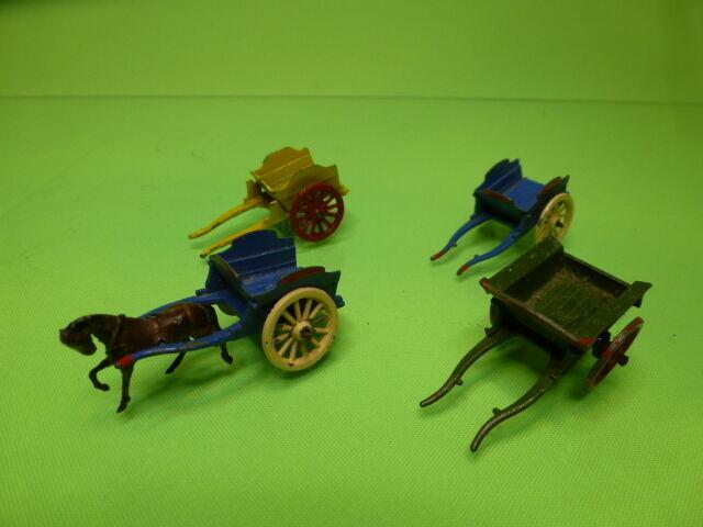 a la venta LOT of 4 BRITAINS BRITAINS BRITAINS BENBROS TUMBLE CocheTS + ONE HORSE - NICE CONDITION  el estilo clásico