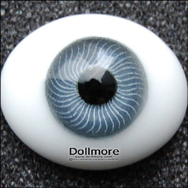 Green Gray Dollmore BJD 10mm Oval Real Type PaperWeight Glass Eyes