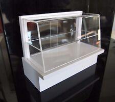 White Wood Perspex 3 Shelf Shop Display Dollhouse Miniatures Market Deco Bakery