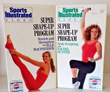 Lot of 2 Super Shape-up Program VHS Rachel Hunter Elle MacPherson Stretching