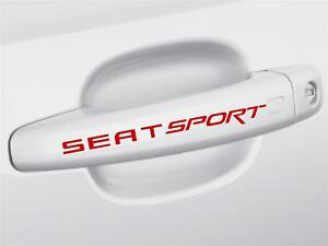 4 x SEAT Sport Door Handle Decals Stickers ANY COLOUR