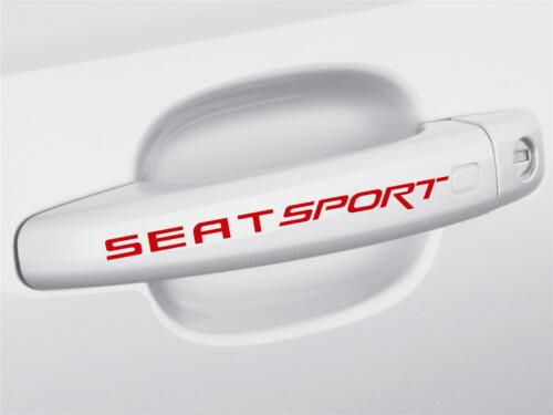 4 x SEAT Sport Door Handle Decals Stickers ANY COLOUR