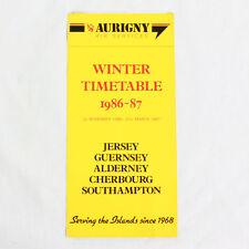 Aurigny Aria Services Della Compagnia Aerea Timetable (tabella Orari) Inverno