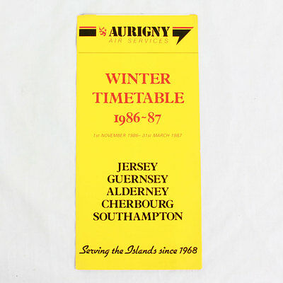 Airline Timetable 30 March 1987 Brown Air